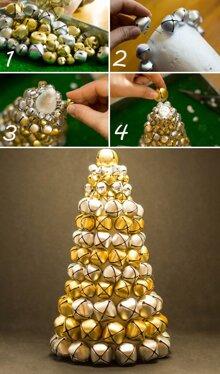 Cách làm cây thông Noel để bàn vừa xinh vừa dễ
