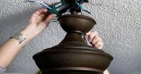 Cách lắp quạt trần không có móc treo cho trần bê tông