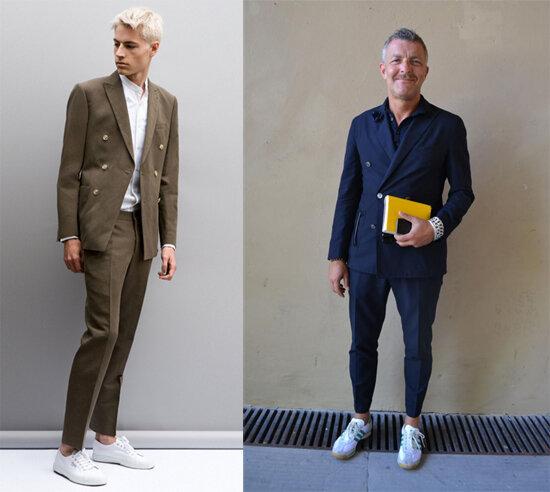 Cách mặc trang phục vest với giầy sneaker dành cho nam giới