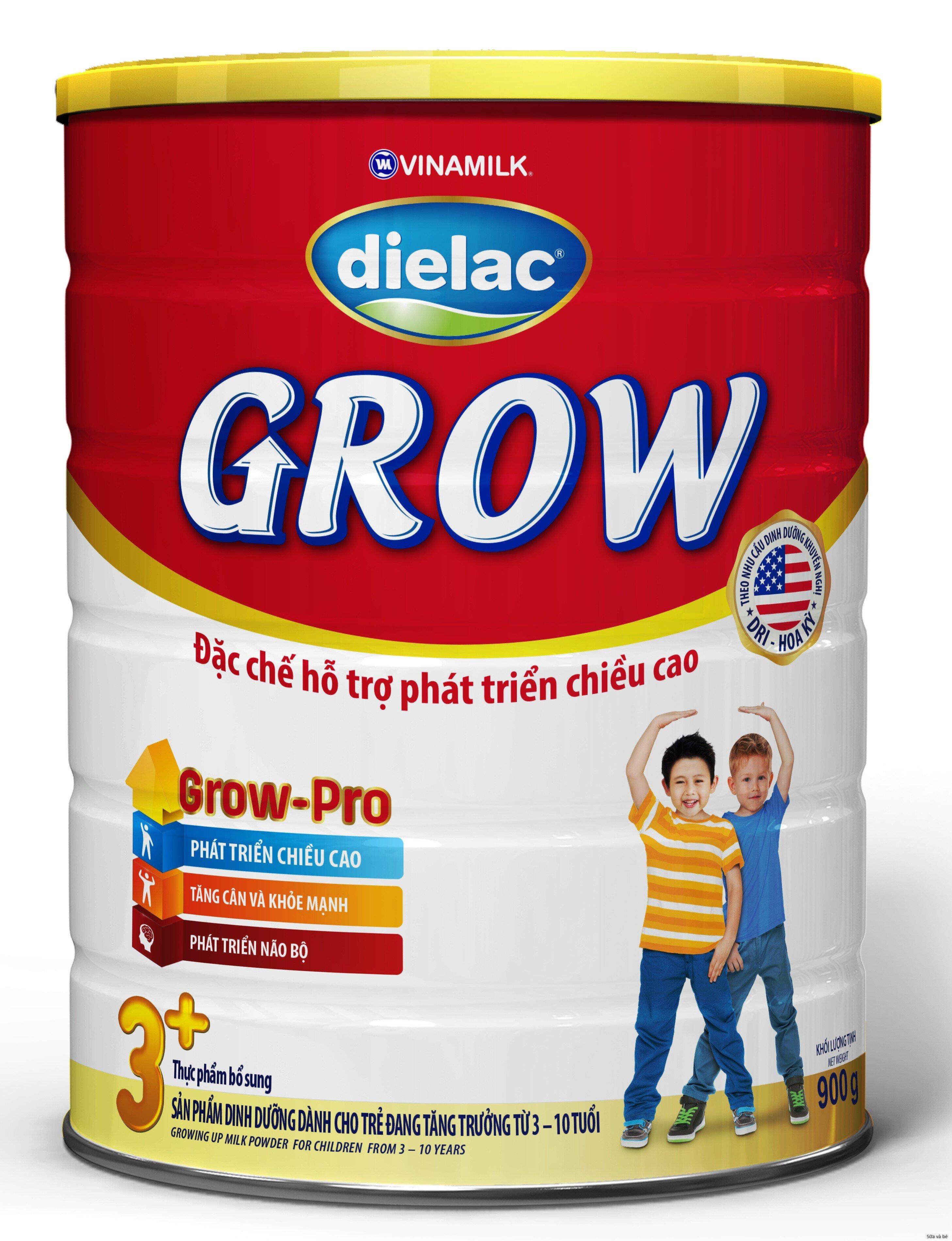 Cách pha sữa bột Vinamilk Dielac Grow