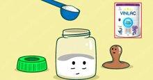 Cách pha sữa bột Vinlac cho trẻ suy dinh dưỡng, thấp còi
