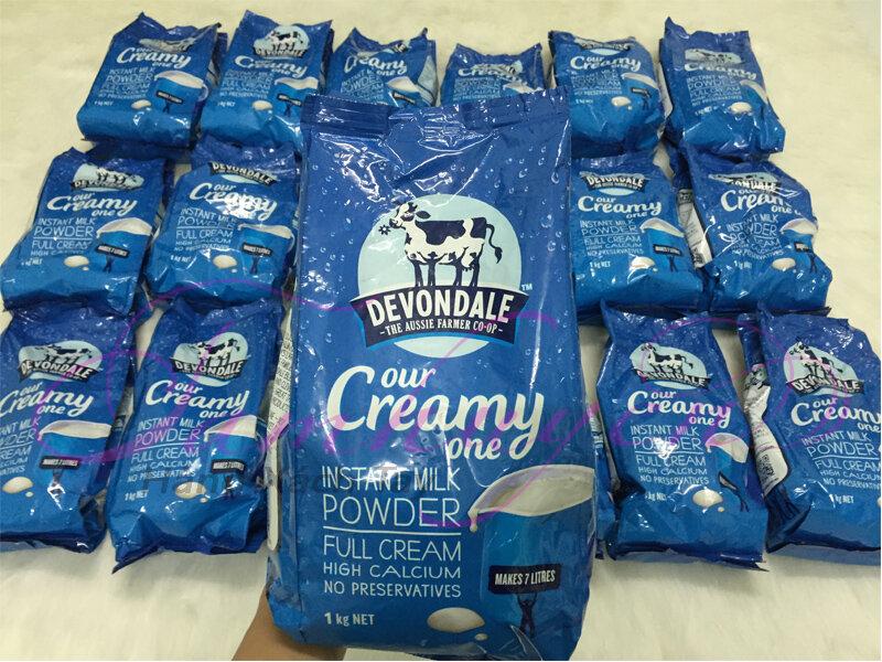 Cách pha sữa tươi nguyên kem dạng bột Devondale