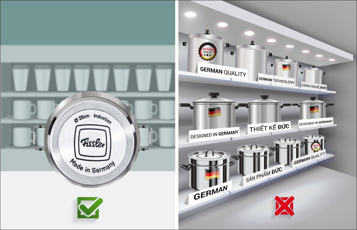 """Cách phân biệt đồ dùng nhà bếp thật sự sản xuất tại Đức: đủ 3 chữ """"Made in Germany"""""""