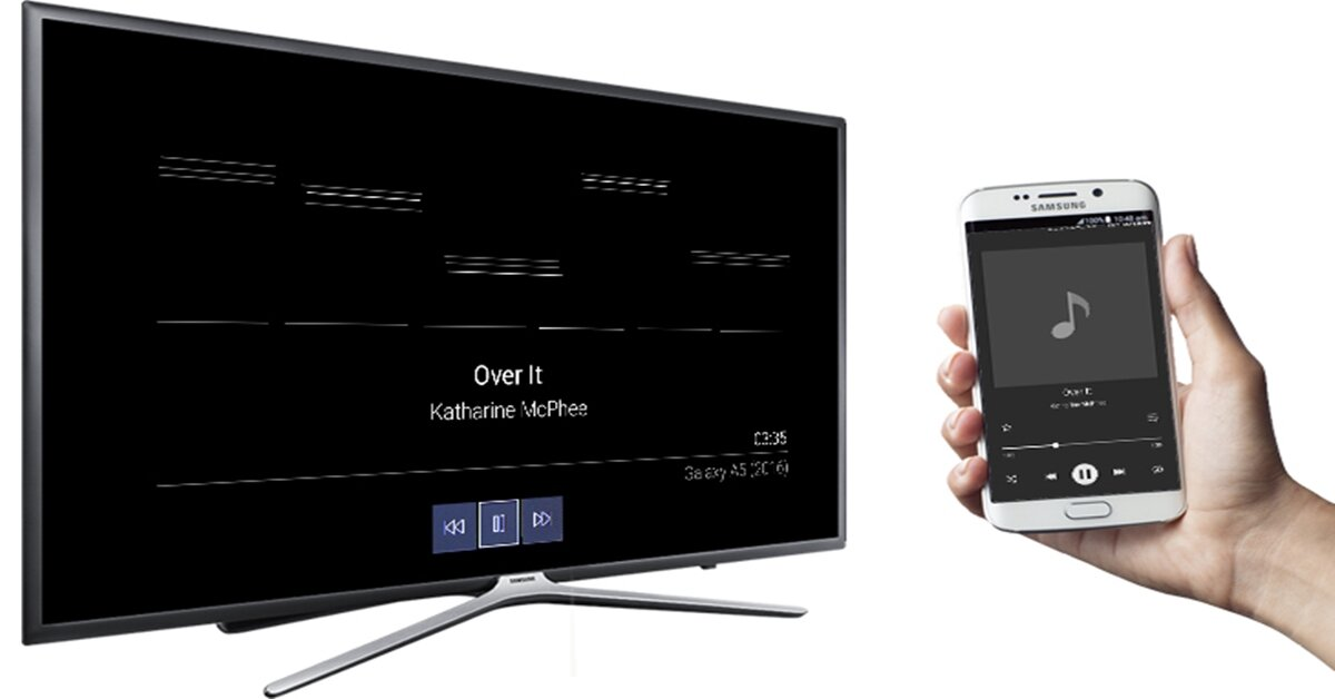 Cách phát nhạc từ điện thoại lên Smart tivi Samsung bằng bluetooth