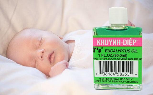 Cách sử dụng dầu khuynh diệp cho trẻ sơ sinh
