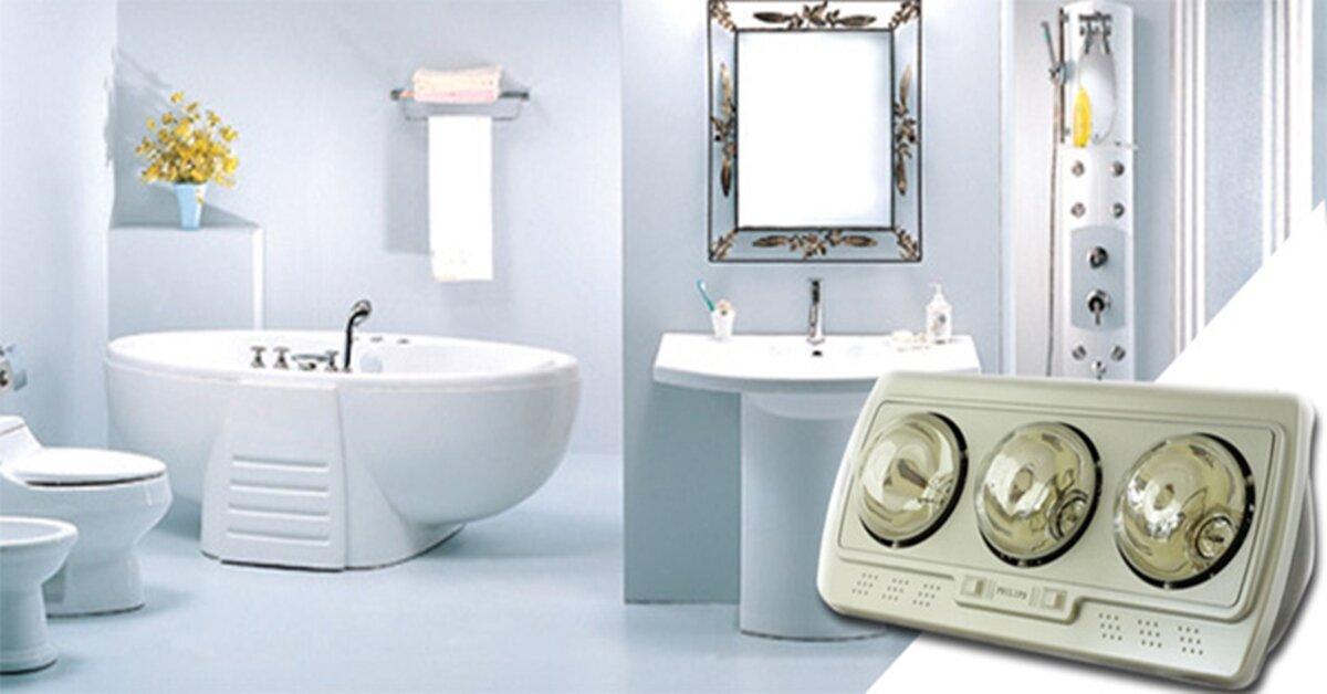 Cách sử dụng đèn sưởi nhà tắm an toàn