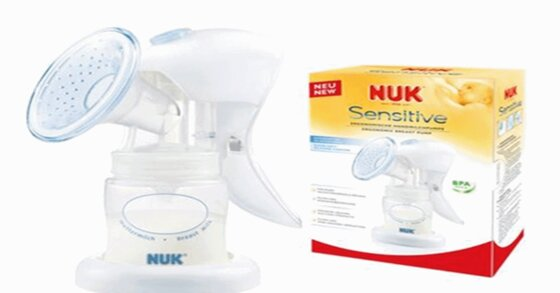 Cách sử dụng máy hút sữa bằng tay NUK Sensitive 749048
