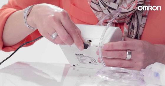 Cách sử dụng máy xông mũi họng Omron đúng để trị viêm xong hiệu quả