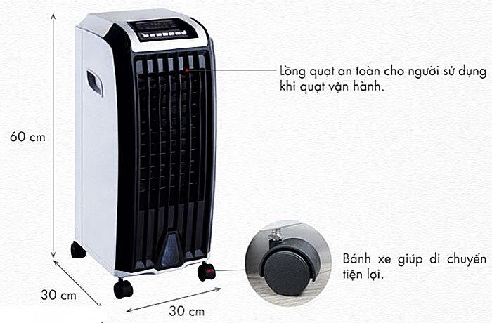 Cách sử dụng quạt hơi nước an toàn và hiệu quả