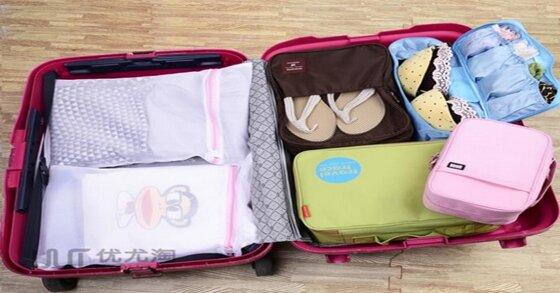 Cách xếp đồ đạc, quần áo được nhiều trong vali du lịch