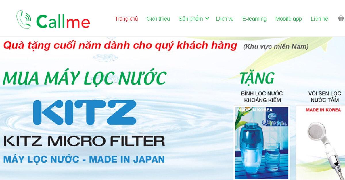 Callme.vn – Chăm sóc nguồn nước sạch hơn cho gia đình Việt