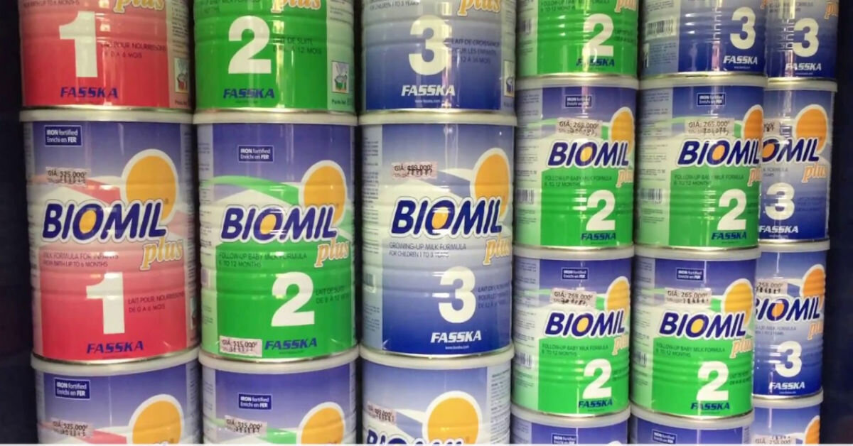 Cập nhật giá sữa Biomil cho bé mới nhất trong tháng 11/2017