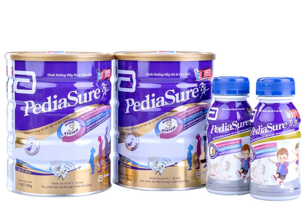 Cập nhật giá sữa bột Abbott Pediasure trong tháng 8/2017