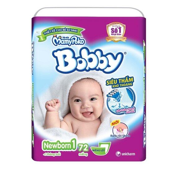 Cập nhật giá tã dán Bobby cho bé trong tháng 12/2017