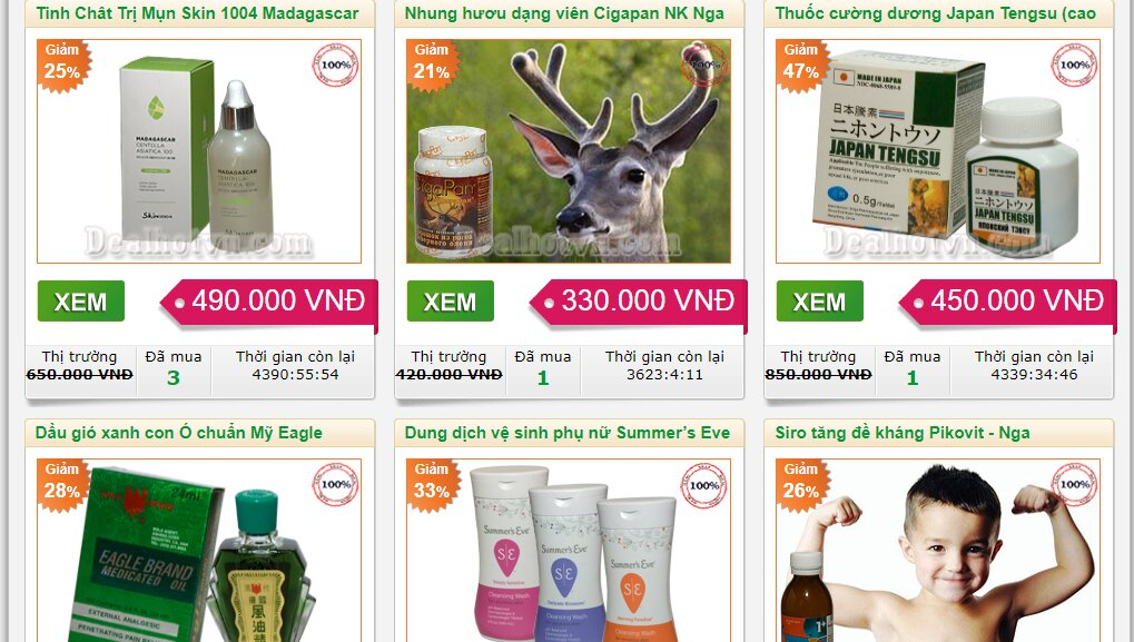 Cập nhật ngay Dealhotvn.com để mua hàng giá rẻ nhất mỗi ngày