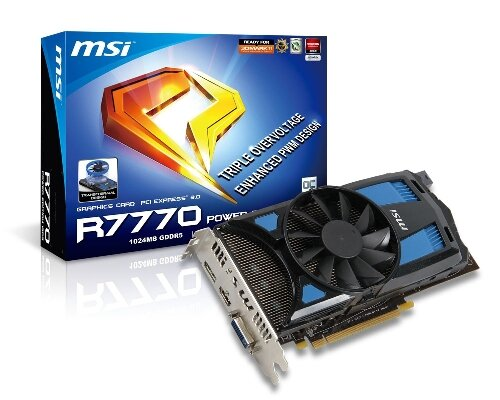 Card màn hình MSI R7770 Power Edition 1GD5/OC: Hiệu năng cực tốt cùng mức giá phải chăng