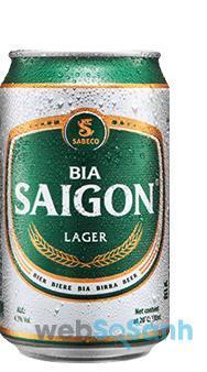Giá bia Sài Gòn xanh lon Larger
