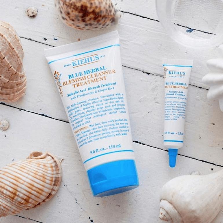 Sữa Rửa Mặt Kiehl's Blue Herbal Blemish Cleanser Treatment