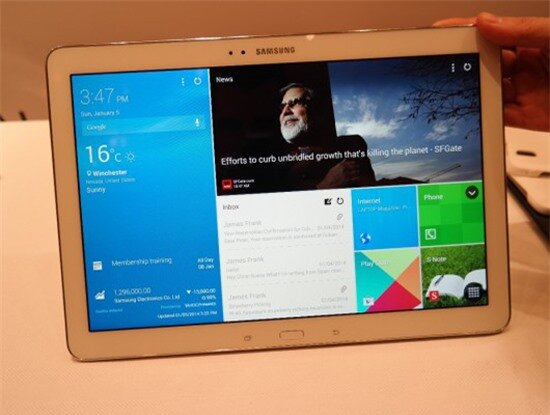 CES 2014: Galaxy NotePRO 12.2 – mở 4 ứng dụng một lúc