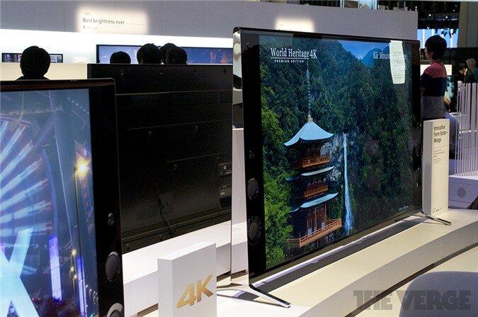 [CES 2014] Tivi Sony với thiết kế cạnh bên hình tam giác lạ mắt