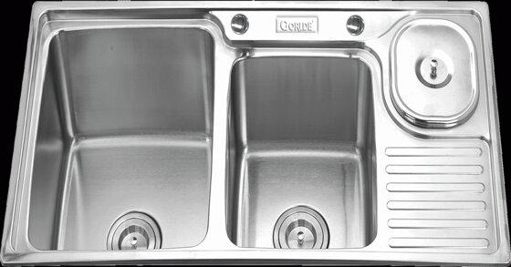Chậu rửa bát Gorlde 2 hố và hố đơn có giá bao nhiêu tiền ?