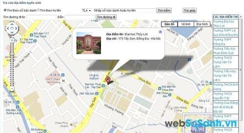Chỉ dẫn đường đi từ bến xe khách tới các điểm thi ĐH ở Hà Nội