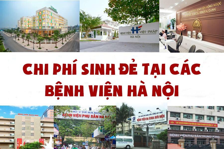 Chi phí sinh đẻ ở các bệnh viện tại Hà Nội mới nhất năm 2017