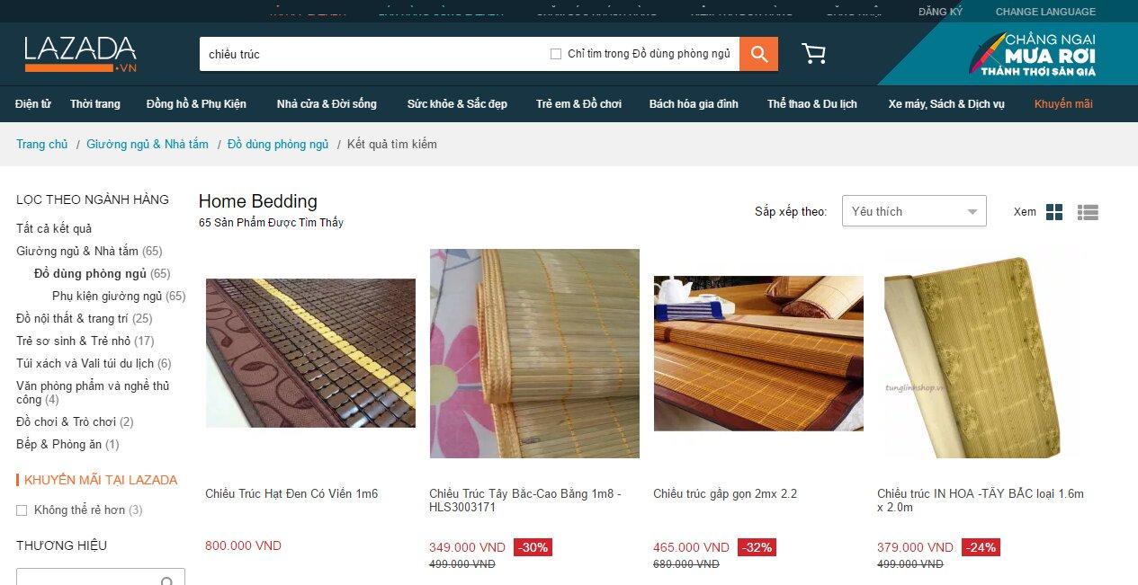 Chiếu trúc trên Lazada giá rẻ nhưng có nên mua hay không?