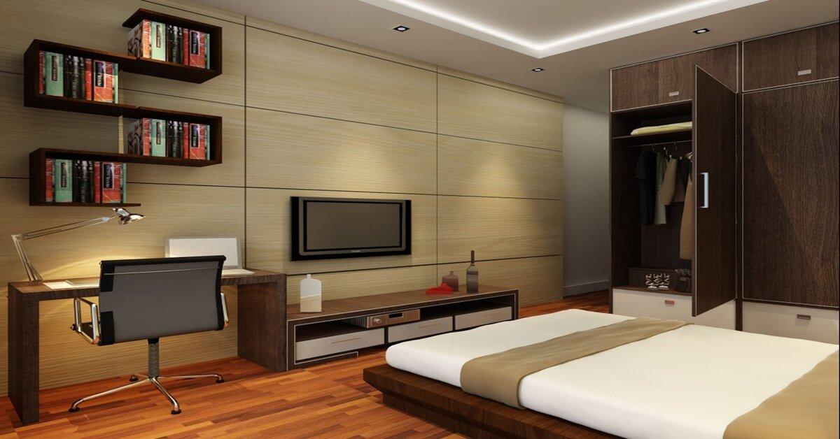 Chọn kệ tivi đẹp cho phòng ngủ