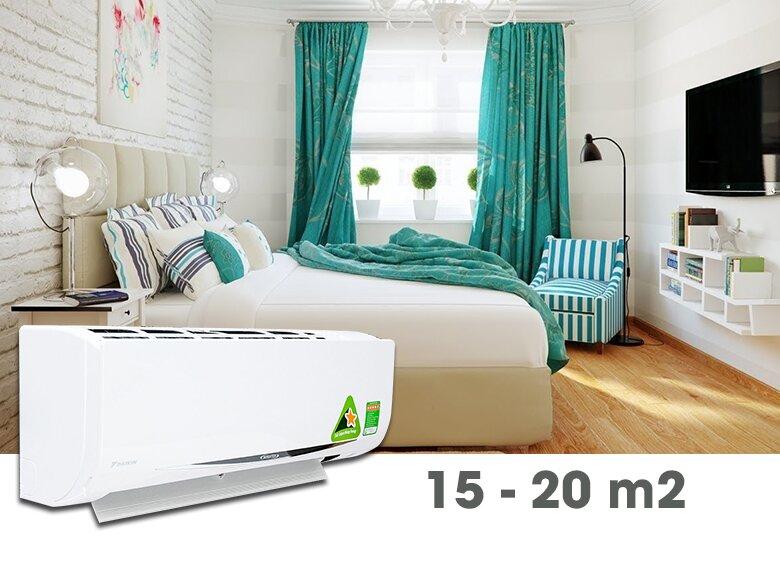 Chọn mua điều hòa tiết kiệm điện cho phòng nhỏ dưới 20 mét vuông
