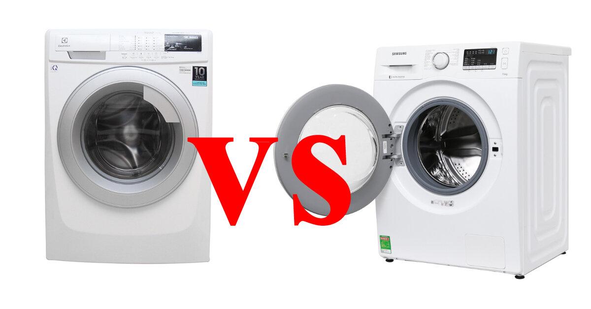 Chọn mua máy giặt nước nóng Electrolux hay Samsung trong tầm giá 8 triệu ?