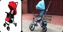 Chọn mua xe đẩy 3 bánh hay xe đẩy 4 bánh cho bé ?