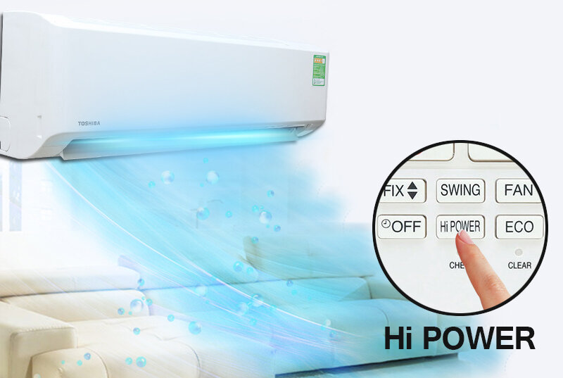 Chế độ Hi Power giúp máy lạnh làm lạnh nhanh chóng hơn