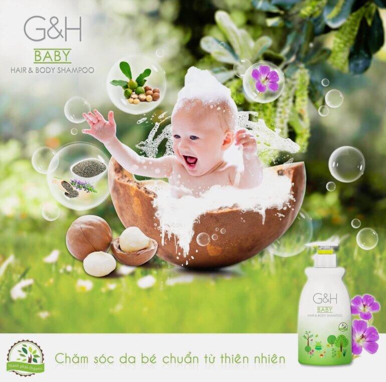 Tác dụng của sữa tắm Amway cho bé