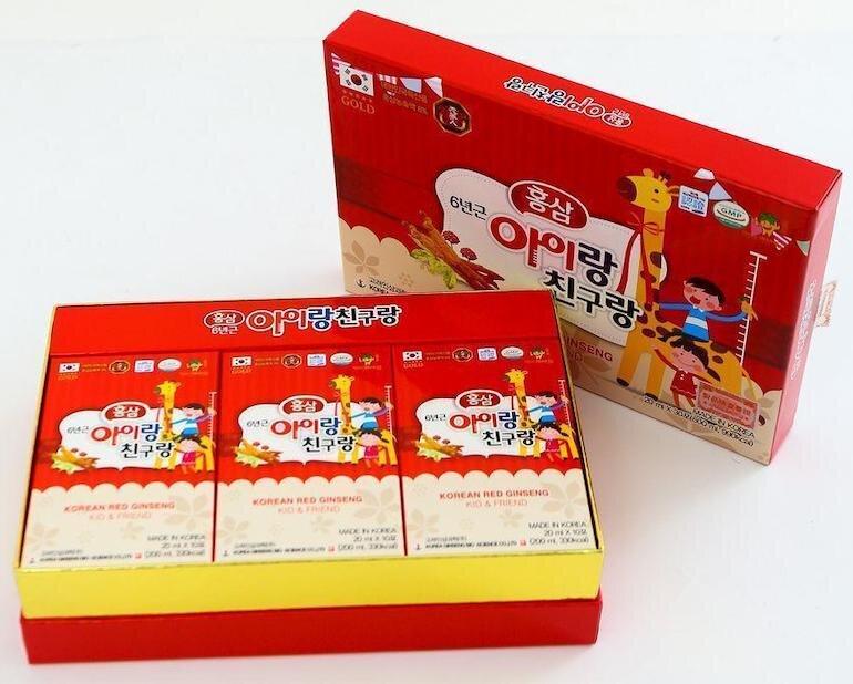 Công dụng của hồng sâm Hàn Quốc cho trẻ em