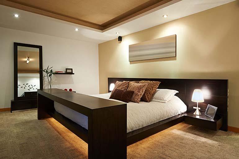Đèn LED âm trần với ánh sáng dịu nhẹ cho phòng ngủ