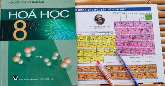Có gì bên trong sách giáo khoa hóa lớp 8?
