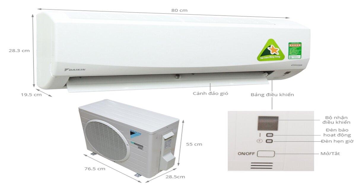 Có nên chọn máy lạnh Daikin FTKC25PVMV/RKC25NVMV ?