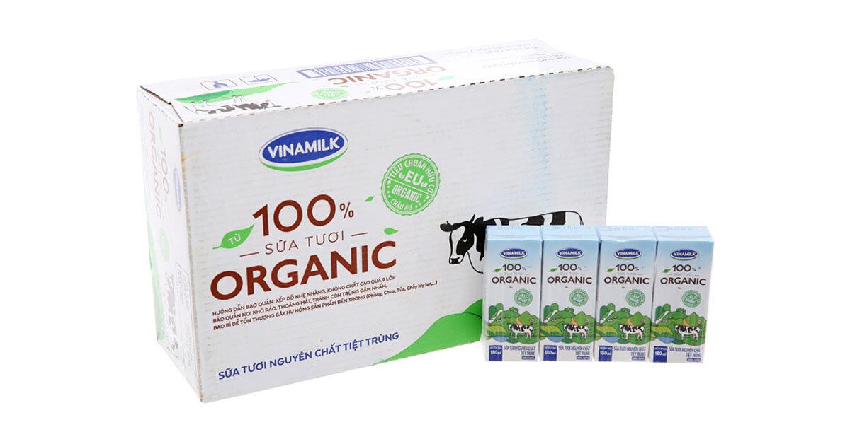 Có sữa tươi Vinamilk Organic CÓ ĐƯỜNG không? Giá bao nhiêu tiền?