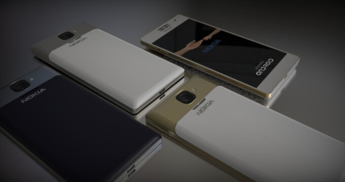 Concept Nokia 1100 tuyệt đẹp với khung viền kim loại siêu mỏng