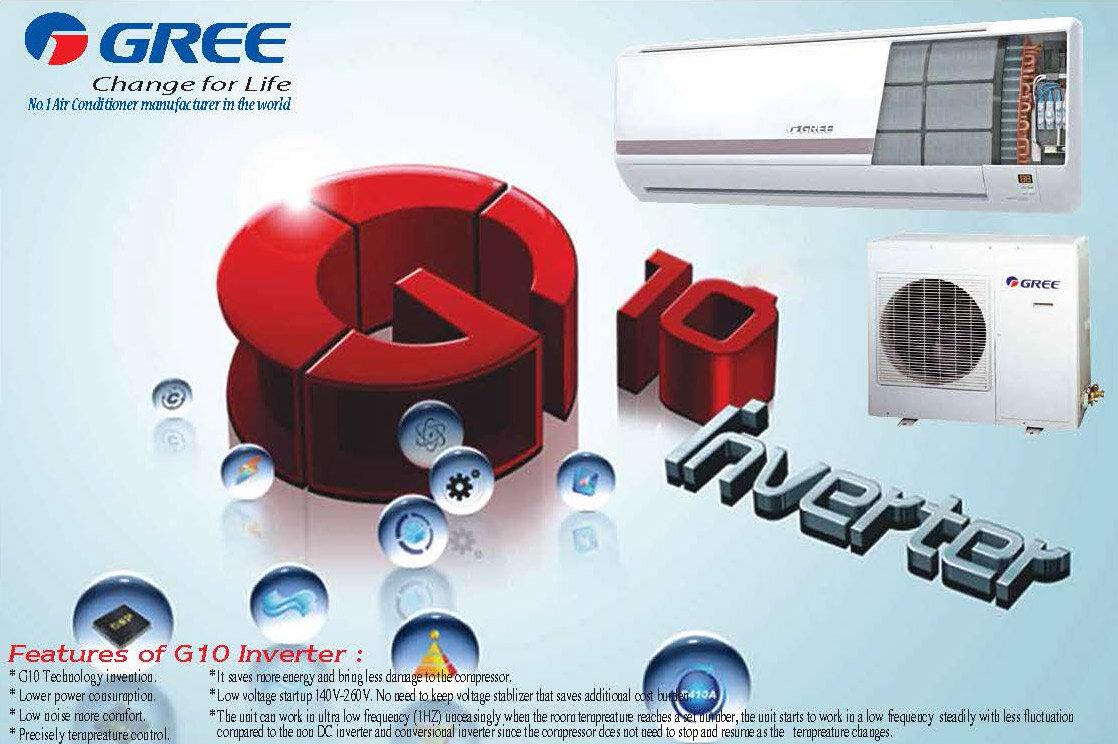 Công nghệ G10-inverter giúp máy lạnh Gree tiết kiệm điện tới 60%