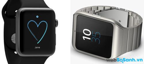 Apple Watch và Sony SmartWatch 3 phiên bản kim loại. Nguồn Internet