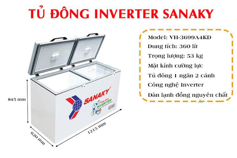 Tủ đông lạnh Sanaky VH-3699A4KD (360 lít)