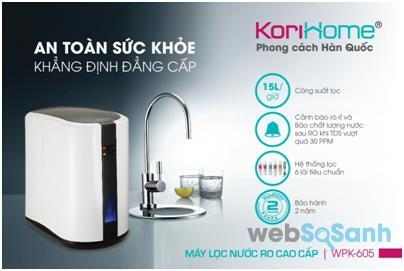 Máy lọc nước RO cao cấp Korihome WPK-605