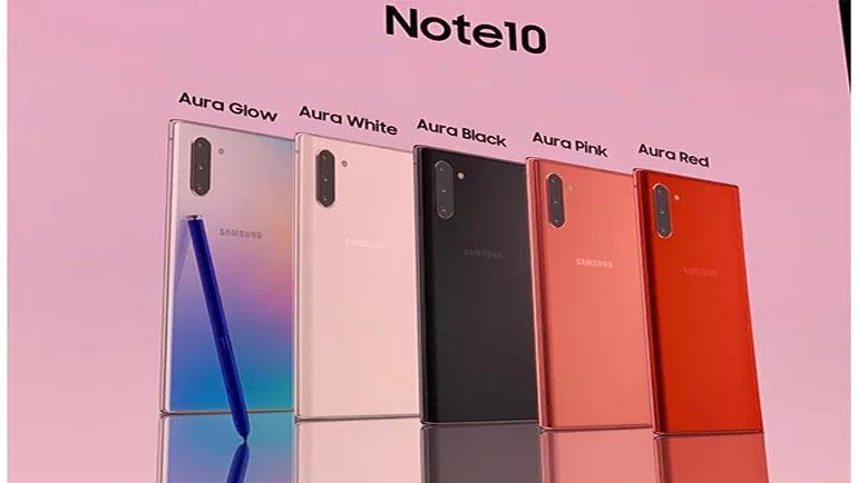 galaxy note 10 có mấy màu