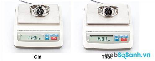 Đồng hồ Rolex chính hãng thường có khối lượng nhất định từ nhà máy