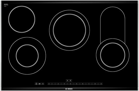 Đánh giá bếp điện từ Bosch PKC875N14A: Thiết kế 4 vùng nấu, có vùng rán tiện lợi