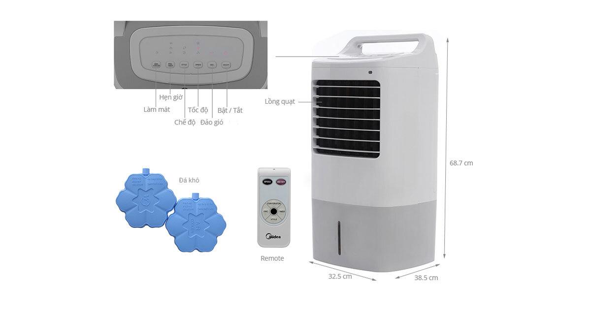 Đánh giá chất lượng quạt điều hòa Midea AC120-16AR