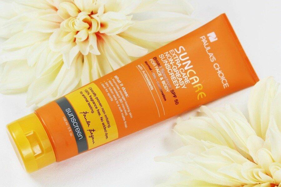 Đánh giá kem chống nắng Paula's Choice Extra Care Non-Greasy Sunscreen SPF 50+