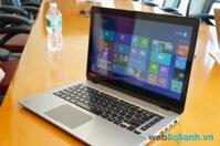 Đánh giá laptop tầm trung Toshiba Satellite E45t: laptop 14 inch cảm ứng giá mềm